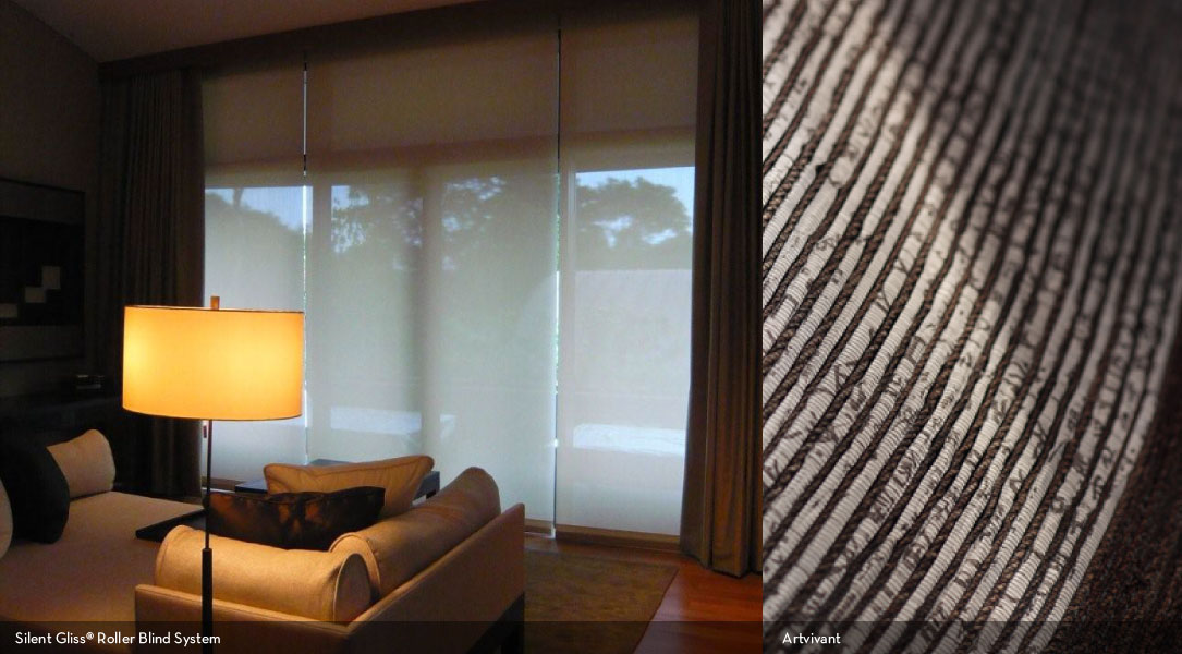 Silent Gliss® Roller Blind System / Artvivants